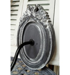 Wandlampe mit Schleife in grau