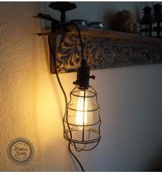 Zink-Käfig Lampe
