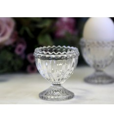 Chic Antique Eierbecher aus Glas