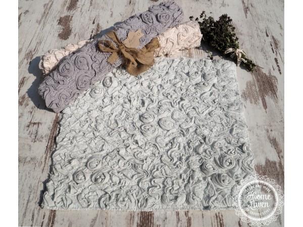 Badteppich mit Rosenmuster 60x60