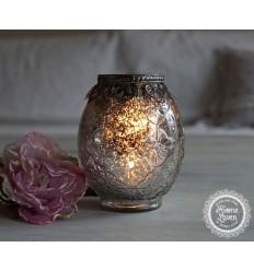 Teelichthalter / Kerzenglas  mit Verzierungen