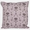 Kissenbezug mit floralen Verzierungen in pastell-purpur