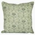 Kissenbezug mit floralen Verzierungen in pastell-grün