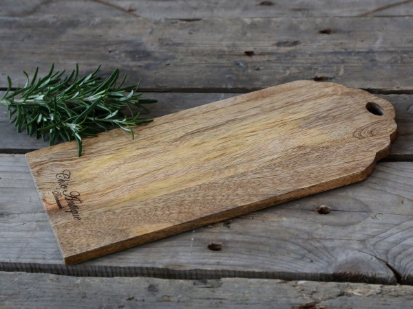 Servierbrett aus Mangoholz