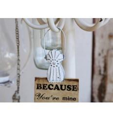 Chic Antique weiße Klammer im Altfranzösischen-Stil