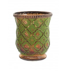 Teelichtglas / Kerzenglas mit Reliefprägung