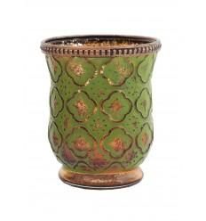 Teelichtglas mit Reliefprägung
