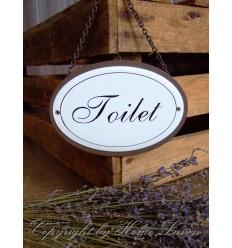Blechschild 'Toilet'