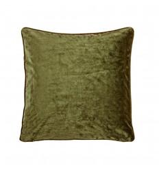Samt Kissenbezug  olivgrün 045