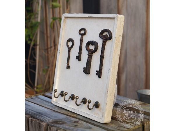 Schlüssel-/Hakenleiste mit vier Schlüsselhaken