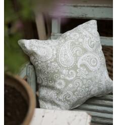 Kissenbezug mit floralen Verzierungen in grün