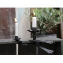 Großer Kerzenhalter mit Klemme schwarz /B-Ware