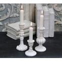Chic Antique Kerzenständer 'Cream' in 3 Größen