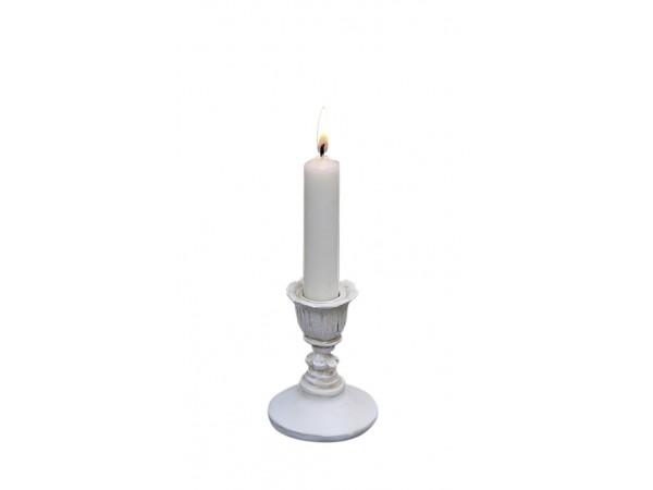 Weißer Kerzenständer