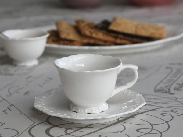 Kaffetasse mit Untertasse 'Provence'