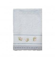 Handtuch 'Shabby Roses' blau