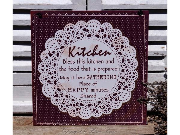Blechschild 'Kitchen'