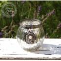 Teelichthalter / Kerzenglas 'Blume'
