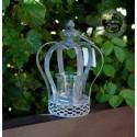 Teelichthalter / Kerzenglas 'Krone'