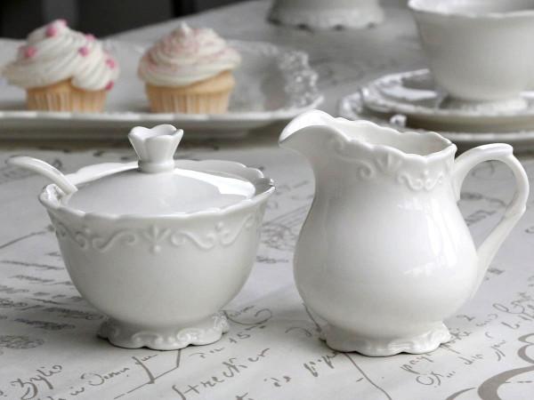 Milchkännchen & Zuckerdose Set 'Provence'
