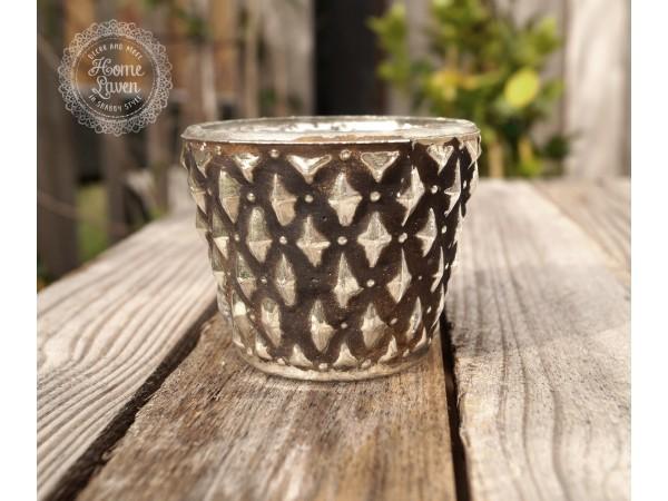 Goldenes Teelichtglas