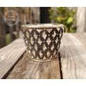Teelichthalter / Kerzenglas 'Retro'
