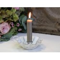 Kerzenhalter für Stabkerzen weiß