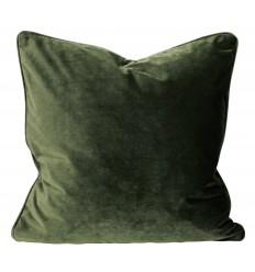Samt Kissenbezug dunkel-olivgrün 077