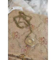 Medallion Halskette antikgold