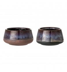 Teelichthalter 'Nordic' braun, grau