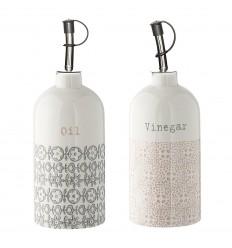 Essig & Öl Flaschen 2er Set 'Cécile'