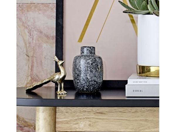 Vase schwarz/grau