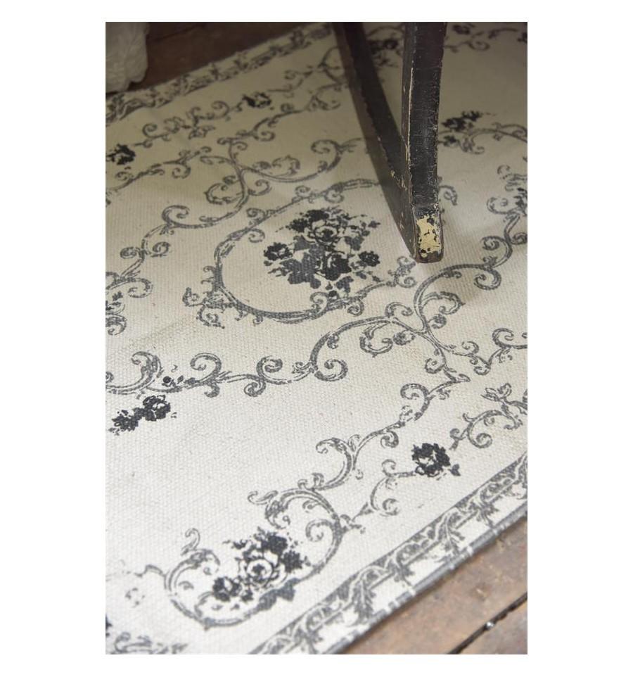 teppich 39 used look 39 70x140 grau schwarz teppiche. Black Bedroom Furniture Sets. Home Design Ideas