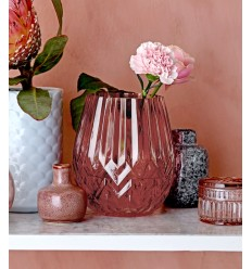 Vase aus Glas rot