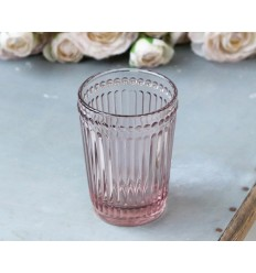 Zahnputzbecher mit Perlenkante rosa
