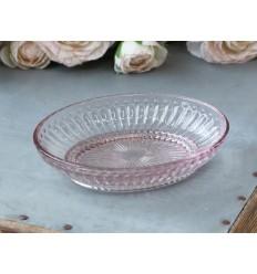 Seifenschale mit Perlenkante rosa