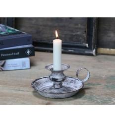 Kerzenhalter Kammerleuchter weiß grau