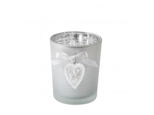 Teelichthalter / Kerzenglas mit Herz