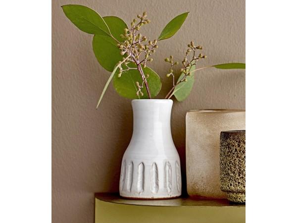 Vase 'Boho' weiß klein