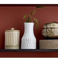 Vase 'Ethno' weiß klein