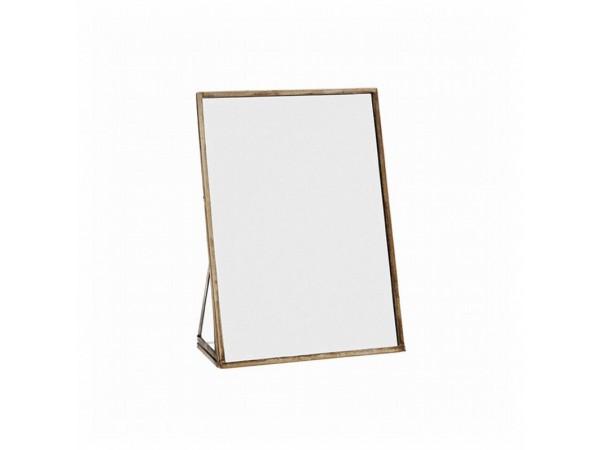 Tischspiegel 10x15 messing