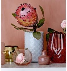 Vase in eisblau