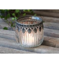 Teelichthalter mit  Metallornament