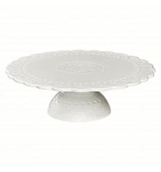 Tortenplatte Kuchenplatte 'Orient' weiß