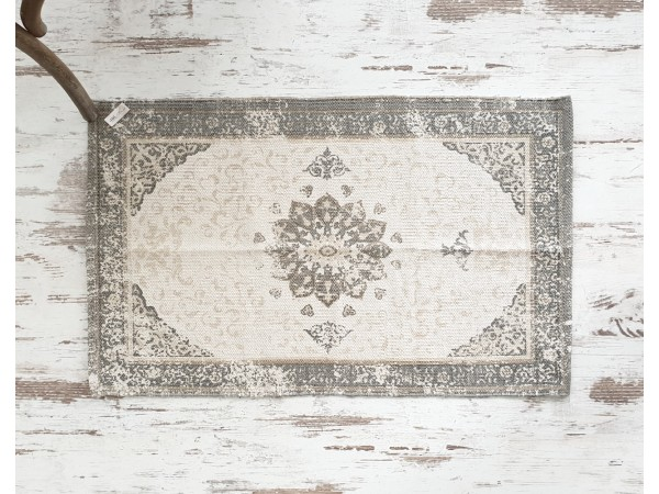 Teppich 'Dusty flower' 60x90 beige grau