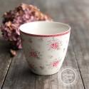 Greengate Latte Cup Becher 'Flora' white