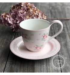 Set Kaffetasse Teetasse + Untertasse 'Marley' pale pink