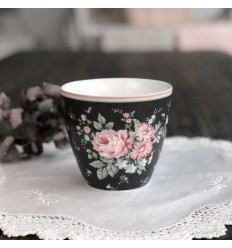 Greengate Latte Cup Becher 'Marley' dark grey