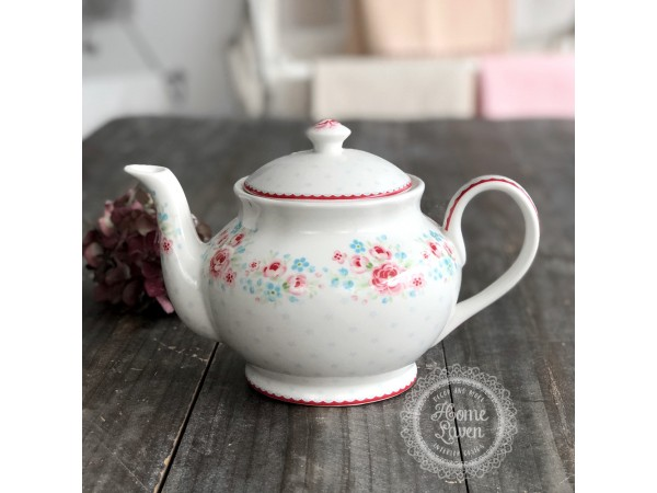 Greengate Teekanne Kaffekanne 'Tess' white