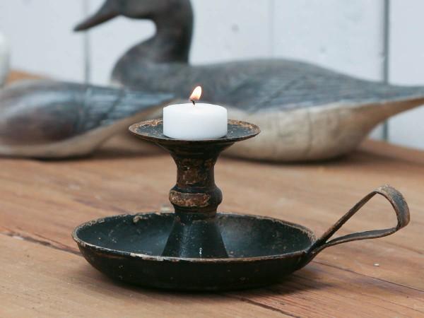 Kerzenständer/Kammerleuchter schwarz